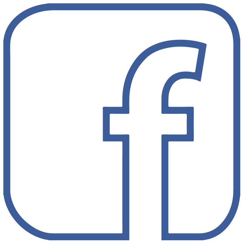facebook f icon logo outline transparent vector